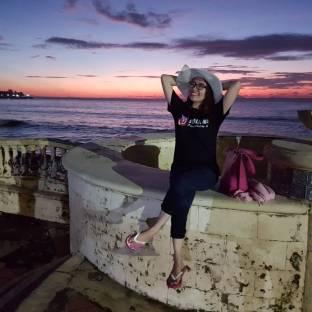 Latar sunset yang indah