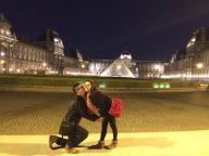 louvre, paris at night
