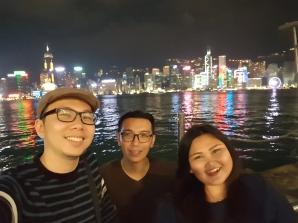 Suasana malam di tsim sha tsui promenade