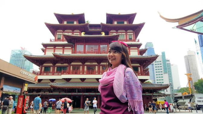 Jalan-jalan wisata kultural di China Town, Singapura