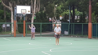 Elderly people, Carpenter Road Park, Kow Loon, Hong Kong