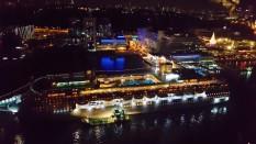 Pemandangan kapal pesiar dari singapore cable car