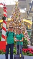 suasana natal di changi airport