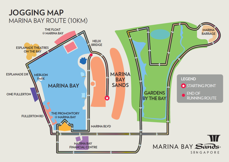 marina bay jogging route