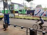 pakiran sepeda di alun-alun bandung