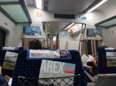 Suasana di dalam kereta AREX