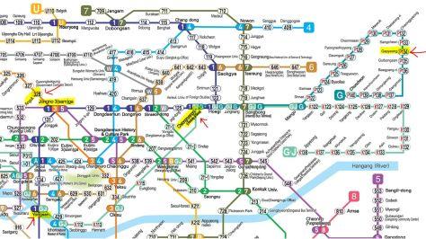 perjalanan ke nami dengan subway