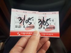 Ticket Gapyeong City tour Bus