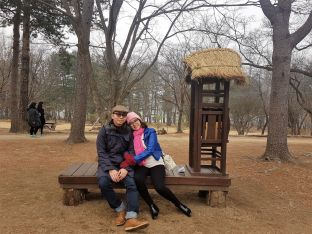 Yudi tika at Nami Island
