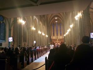 Mass at Myeongdong Cathedral