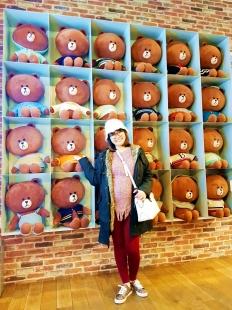 YudiTika berkunjung ke LINE FRIENDS & STORE