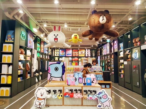 B1 Floor of Line Friends Store & Cafe
