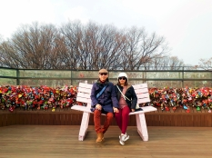 Yudi Tika at Namsan Seoul Tower