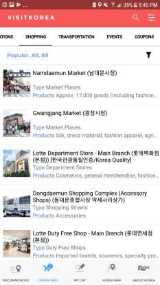 menu Shopping di visitkorea