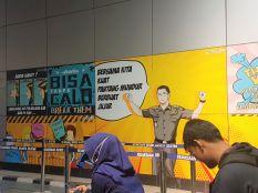 Mural Tilang di Kejaksaan Negeri Jakarta Selatan